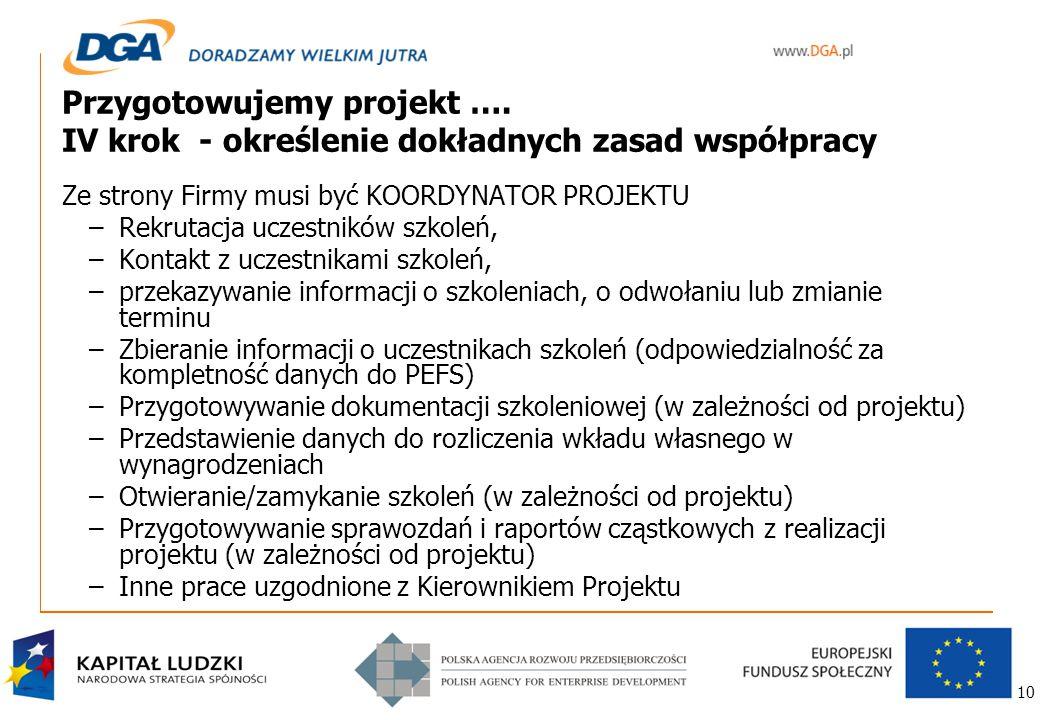 10 Przygotowujemy projekt ….