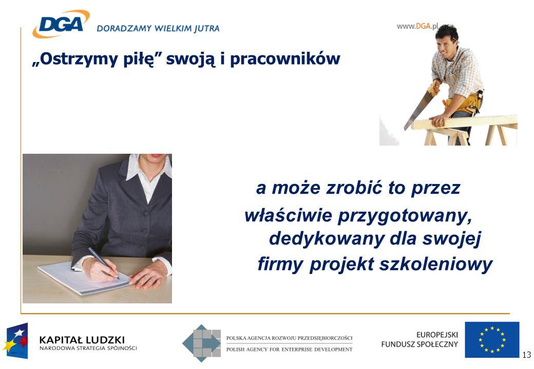 """13 """"Ostrzymy piłę swoją i pracowników a może zrobić to przez właściwie przygotowany, dedykowany dla swojej firmy projekt szkoleniowy"""