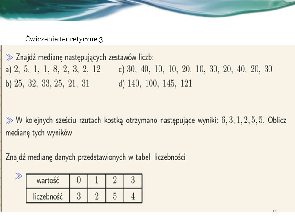 12 Ćwiczenie teoretyczne 3