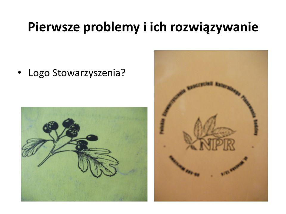 Pierwsze problemy i ich rozwiązywanie Logo Stowarzyszenia?