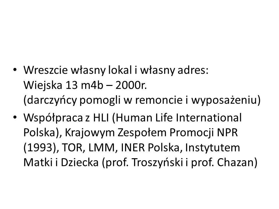 Wreszcie własny lokal i własny adres: Wiejska 13 m4b – 2000r.