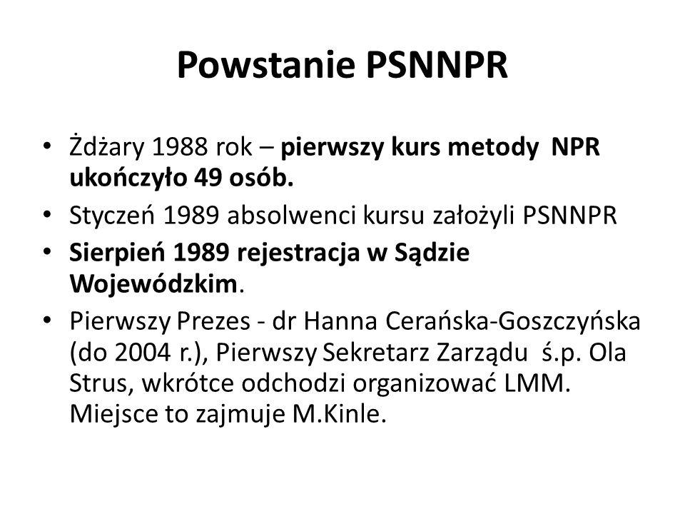 Powstanie PSNNPR Żdżary 1988 rok – pierwszy kurs metody NPR ukończyło 49 osób.