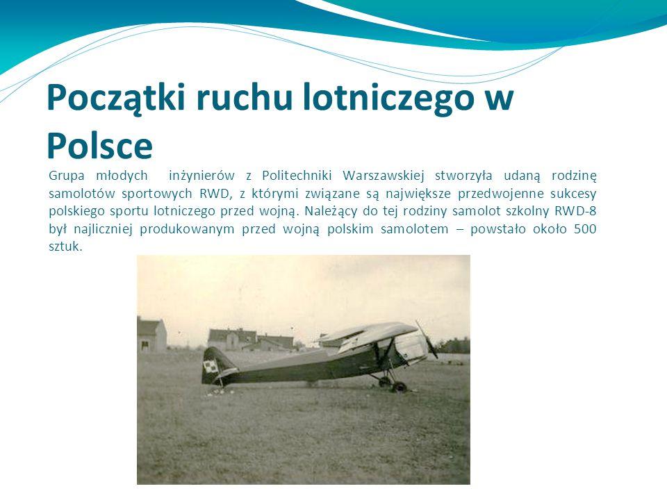 Grupa młodych inżynierów z Politechniki Warszawskiej stworzyła udaną rodzinę samolotów sportowych RWD, z którymi związane są największe przedwojenne s