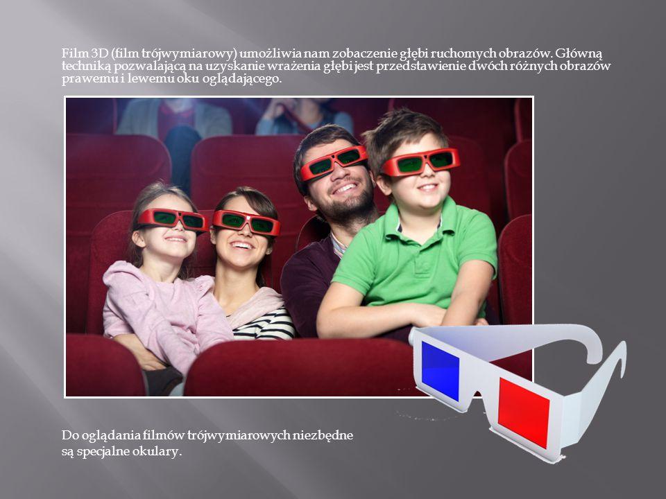 Film 3D (film trójwymiarowy) umożliwia nam zobaczenie głębi ruchomych obrazów. Główną techniką pozwalającą na uzyskanie wrażenia głębi jest przedstawi