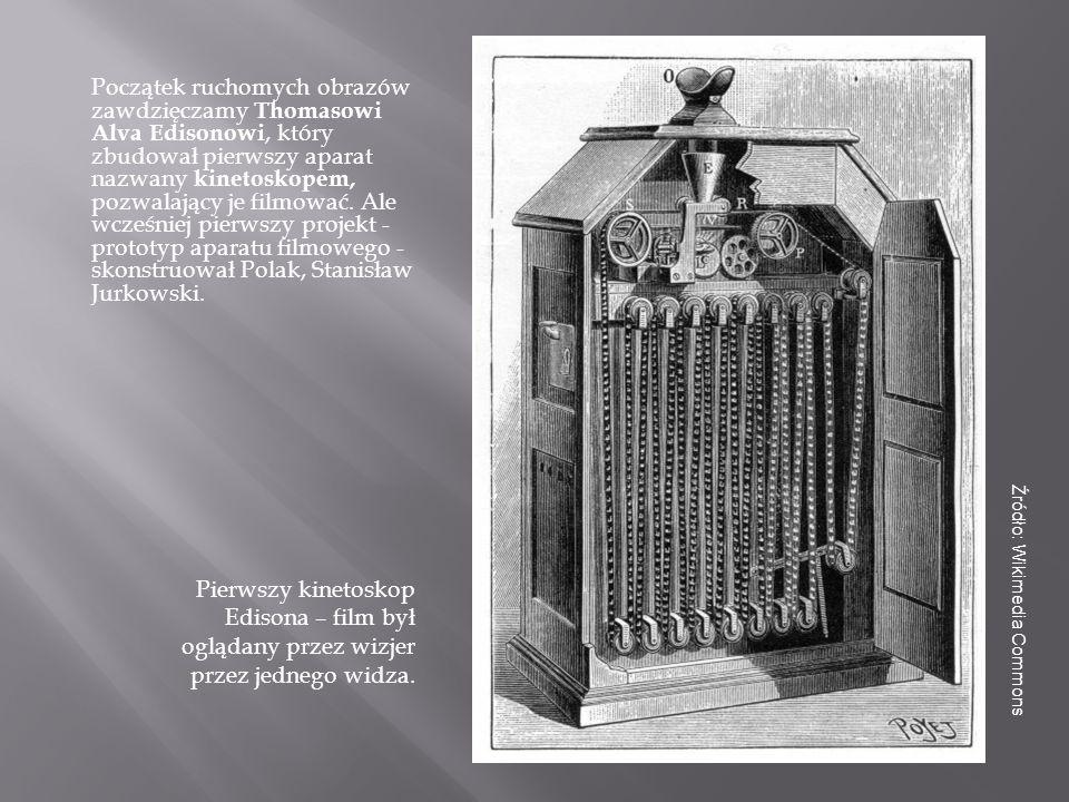 Podobne urządzenie zbudowali bracia Auguste i Louis Lumière.