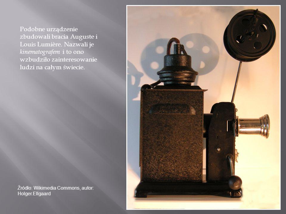 Podobne urządzenie zbudowali bracia Auguste i Louis Lumière. Nazwali je kinematografem i to ono wzbudziło zainteresowanie ludzi na całym świecie. Źród
