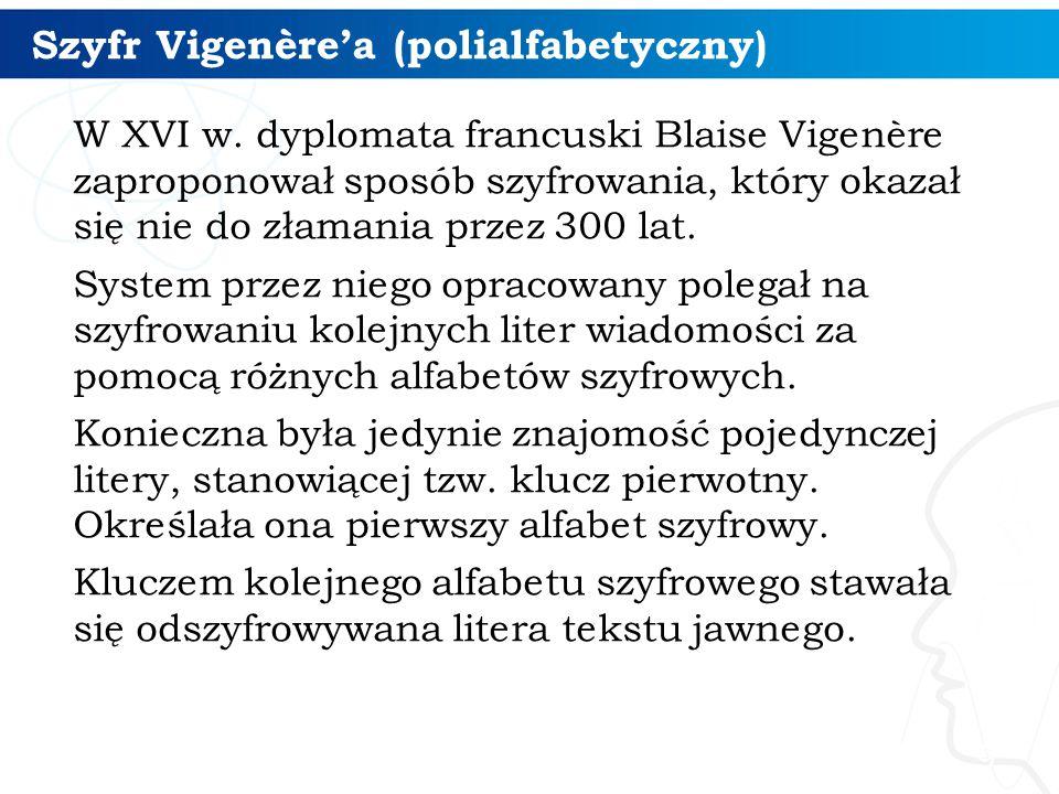 Szyfr Vigenère'a (polialfabetyczny) 10