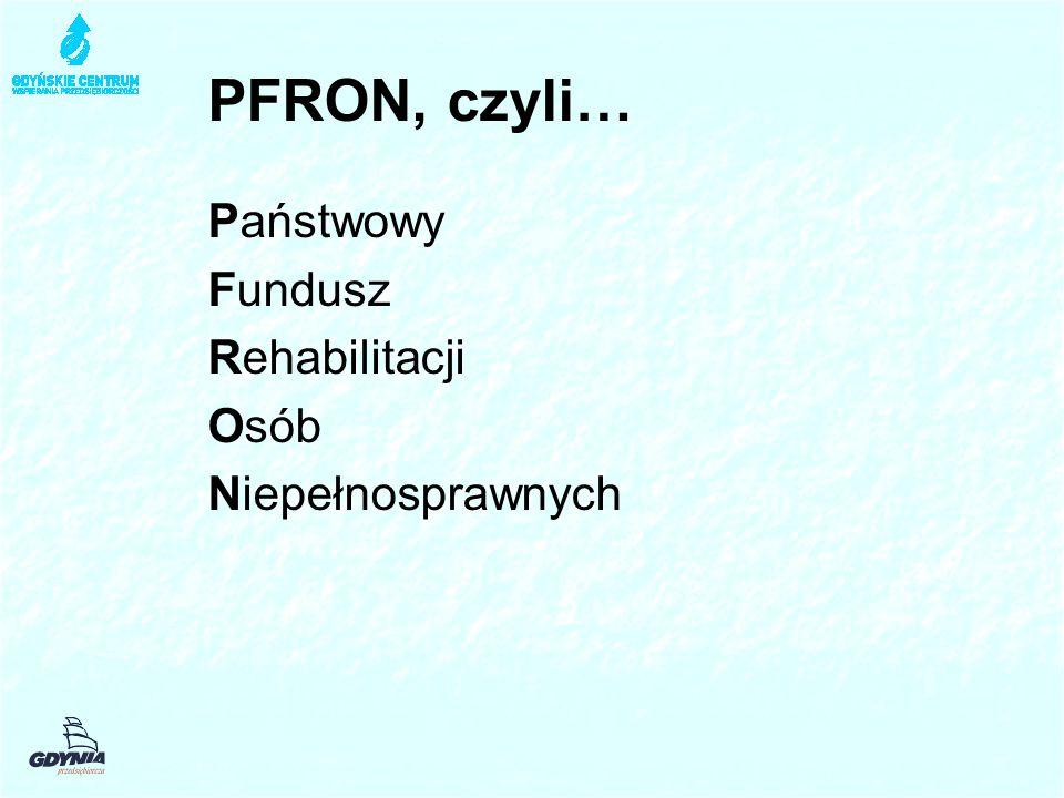 PFRON, czyli… Państwowy Fundusz Rehabilitacji Osób Niepełnosprawnych