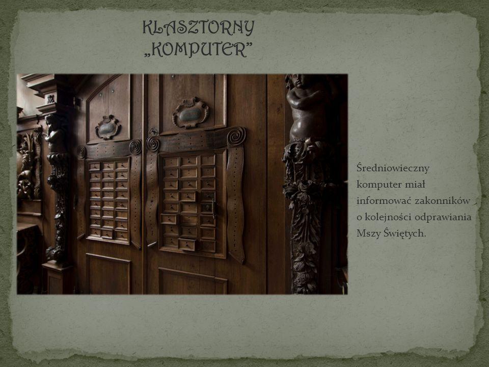 Średniowieczny komputer miał informować zakonników o kolejności odprawiania Mszy Świętych.