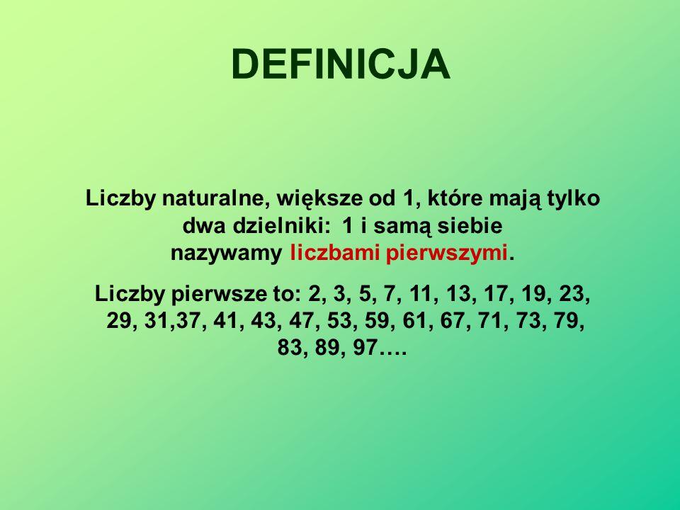 LICZBY PIERWSZE Prezentację opracowała: Iwona Kowalik