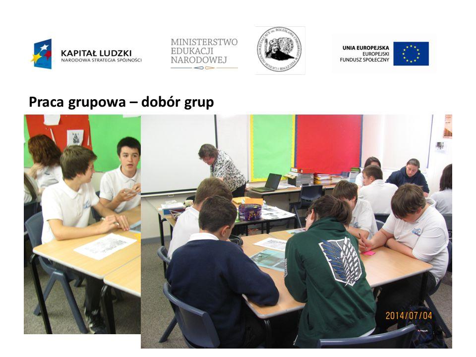 Praca grupowa – dobór grup