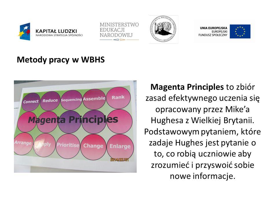 Metody pracy w WBHS Magenta Principles to zbiór zasad efektywnego uczenia się opracowany przez Mike'a Hughesa z Wielkiej Brytanii.