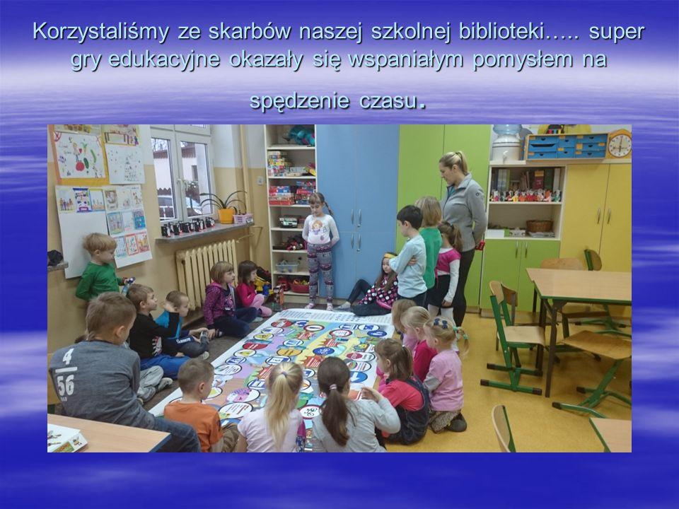 Korzystaliśmy ze skarbów naszej szkolnej biblioteki…..