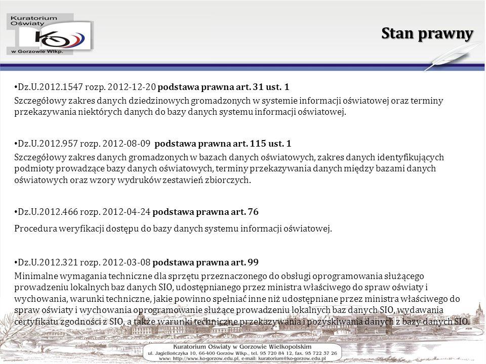 Stan prawny Dz.U.2012.1547 rozp. 2012-12-20 podstawa prawna art.
