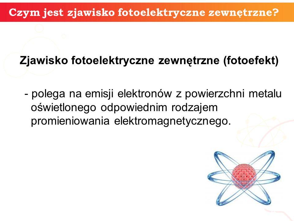 Czym jest zjawisko fotoelektryczne zewnętrzne? informatyka + 4 Zjawisko fotoelektryczne zewnętrzne (fotoefekt) - polega na emisji elektronów z powierz