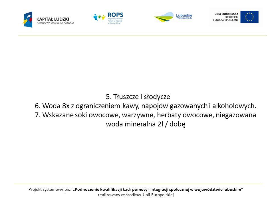 """Projekt systemowy pn.: """"Podnoszenie kwalifikacji kadr pomocy i integracji społecznej w województwie lubuskim realizowany ze środków Unii Europejskiej Często konieczna jest suplementacja pod kontrolą lekarza"""