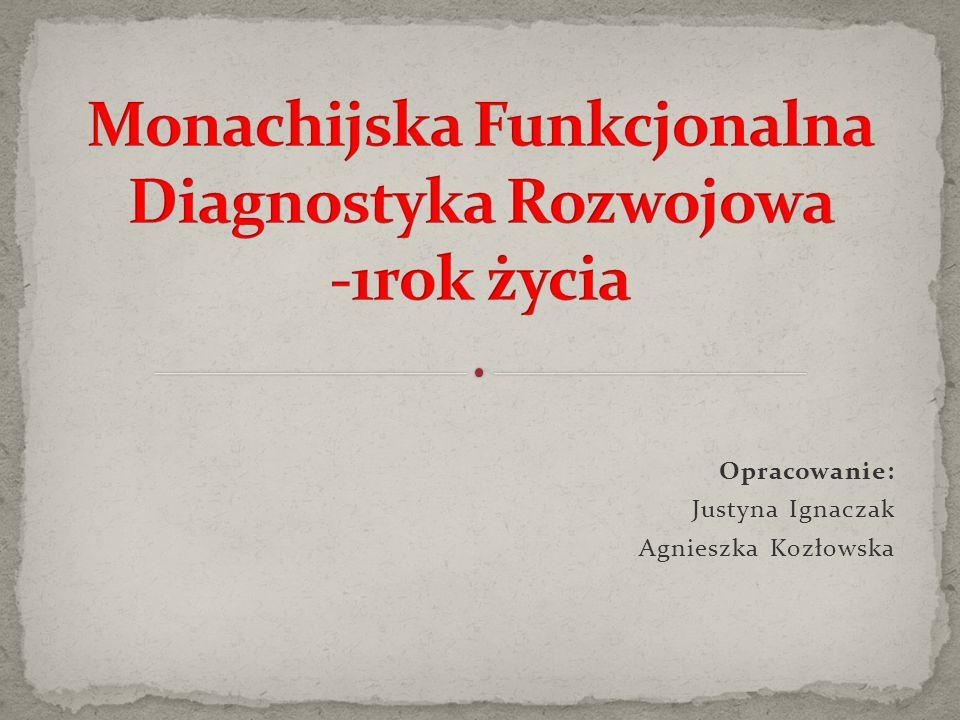 Opracowanie: Justyna Ignaczak Agnieszka Kozłowska