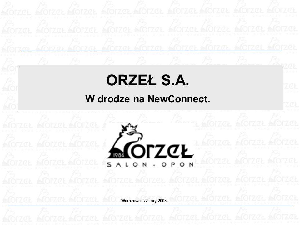 ORZEŁ S.A. W drodze na NewConnect. Warszawa, 22 luty 2008r.