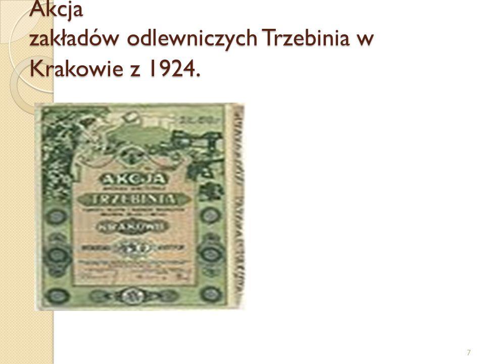 Akcja zakładów odlewniczych Trzebinia w Krakowie z 1924. 7