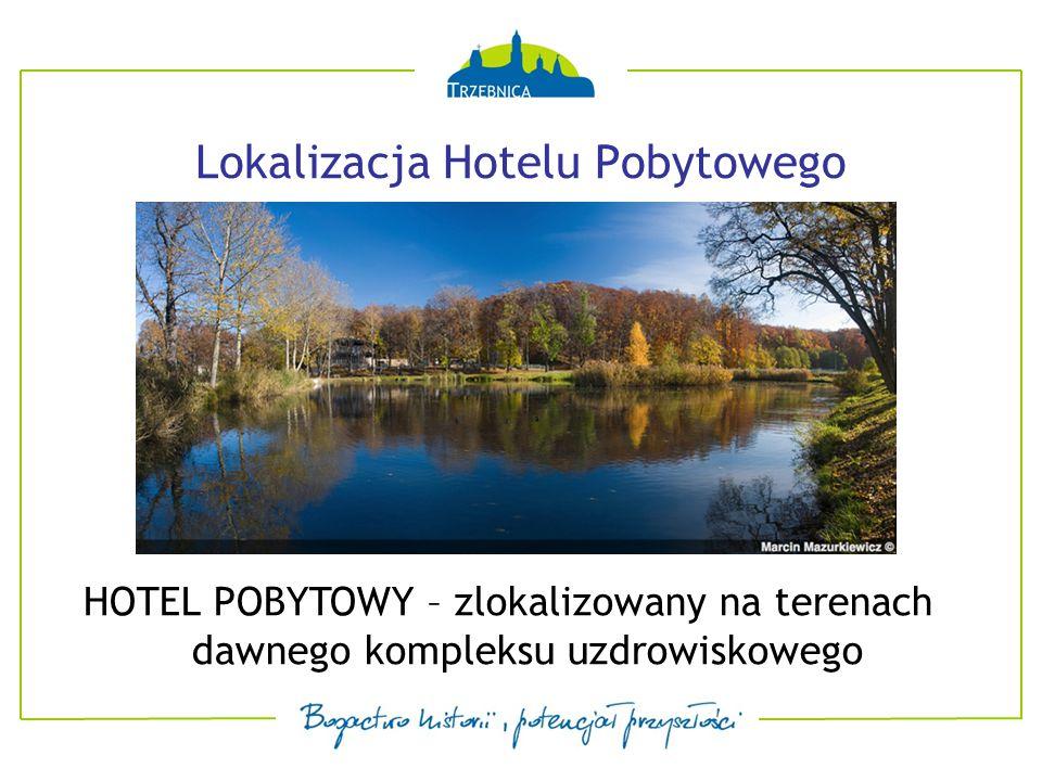Lokalizacja Hotelu Pobytowego HOTEL POBYTOWY – zlokalizowany na terenach dawnego kompleksu uzdrowiskowego