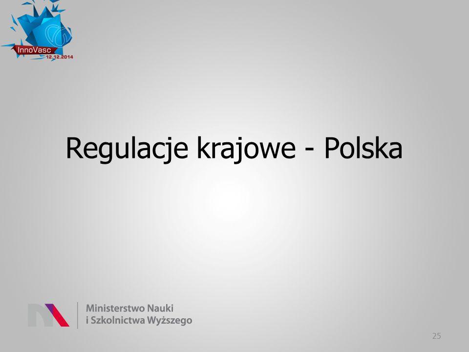 Regulacje krajowe - Polska 25