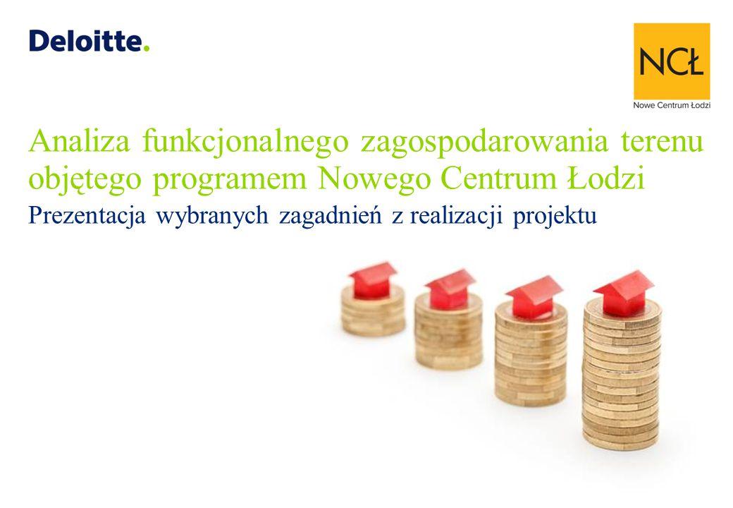 Analiza funkcjonalnego zagospodarowania terenu objętego programem Nowego Centrum Łodzi Prezentacja wybranych zagadnień z realizacji projektu