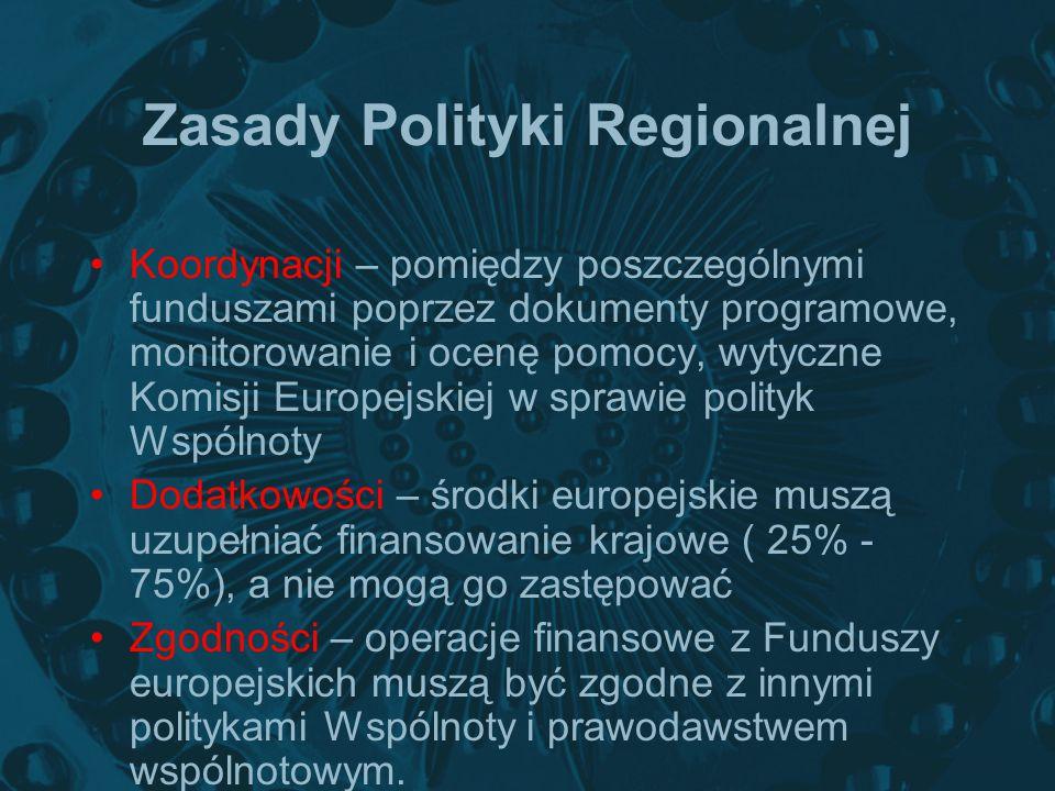 Zasady Polityki Regionalnej Koordynacji – pomiędzy poszczególnymi funduszami poprzez dokumenty programowe, monitorowanie i ocenę pomocy, wytyczne Komi