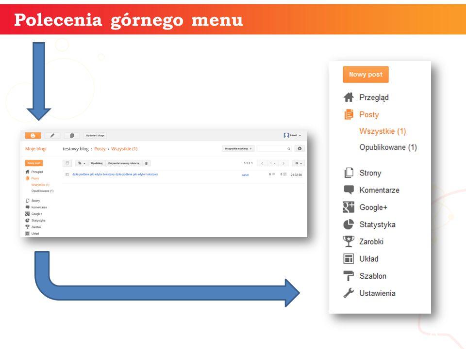 Polecenia górnego menu informatyka + 8