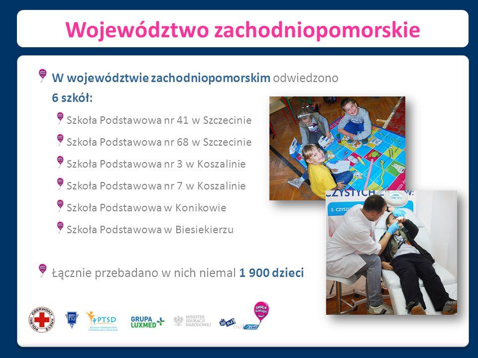 Województwo zachodniopomorskie W województwie zachodniopomorskim odwiedzono 6 szkół: Szkoła Podstawowa nr 41 w Szczecinie Szkoła Podstawowa nr 68 w Sz