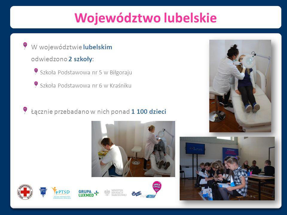 Województwo lubelskie W województwie lubelskim odwiedzono 2 szkoły: Szkoła Podstawowa nr 5 w Biłgoraju Szkoła Podstawowa nr 6 w Kraśniku Łącznie przeb