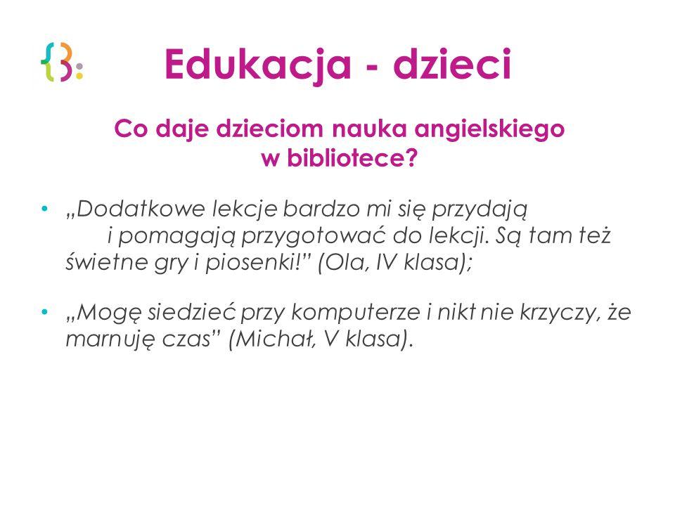 Edukacja - dzieci Co daje dzieciom nauka angielskiego w bibliotece.