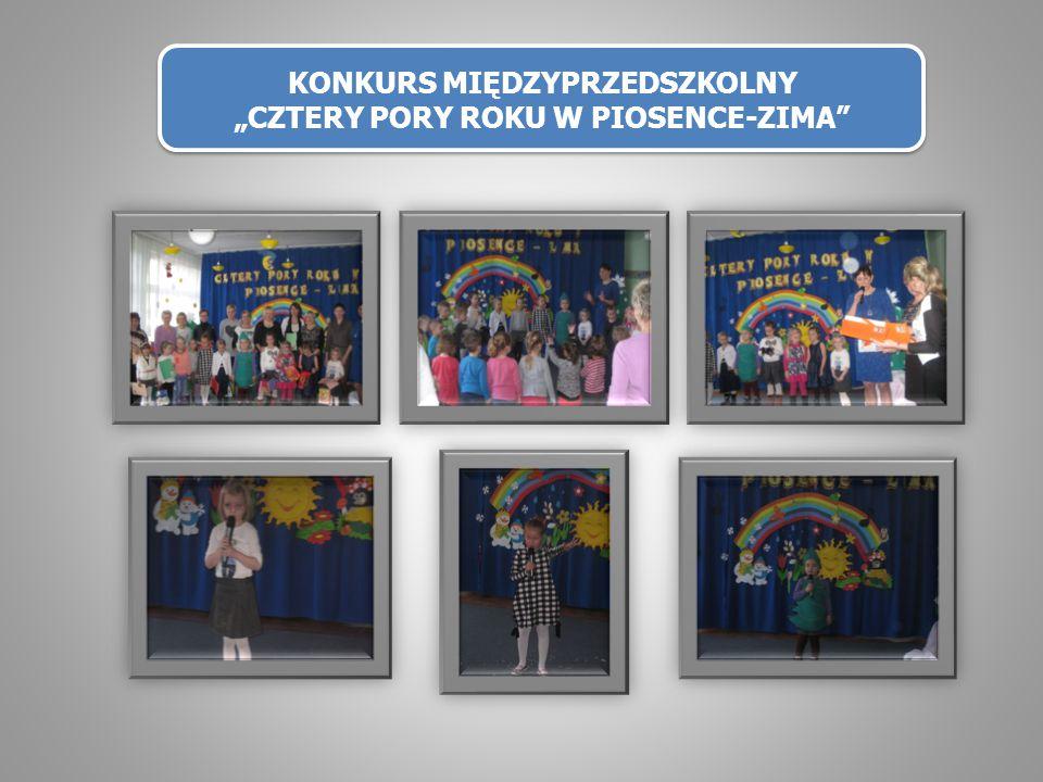 """KONKURS MIĘDZYPRZEDSZKOLNY """"CZTERY PORY ROKU W PIOSENCE-ZIMA"""""""