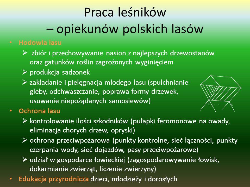 Przyjaciele lasu w Polsce: Polski Parlament i władze terytorialne - kierują się w swoich działaniach dobrem lasu Leśnicy - pracownicy Lasów Państwowyc