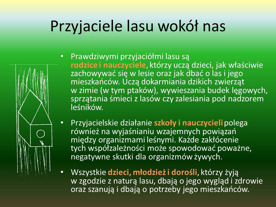 Przyjazne lasom organizacje w Polsce i ich członkowie: Liga Ochrony Przyrody  czuwa nad przestrzeganiem prawa ochrony przyrody  prowadzi działania e