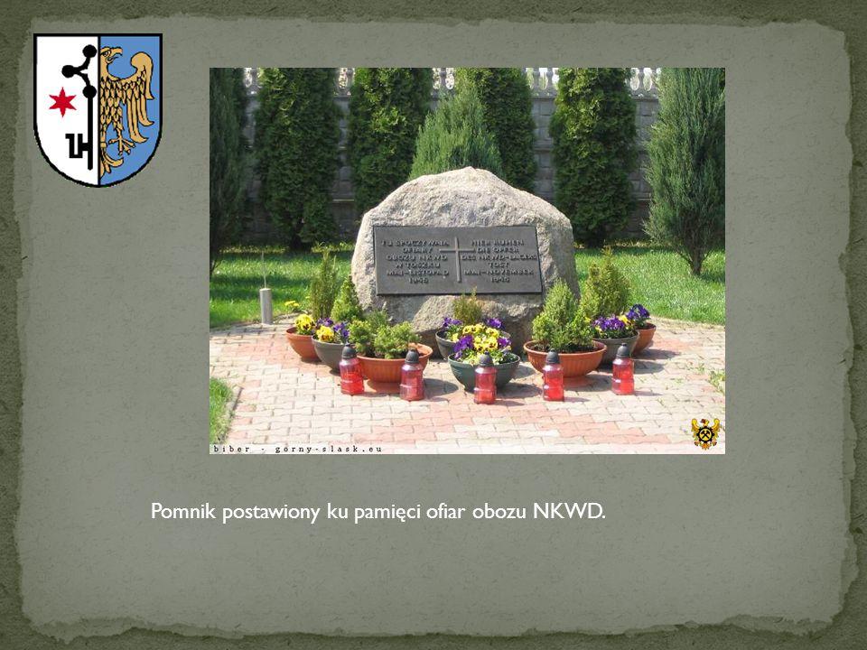 Pomnik postawiony ku pamięci ofiar obozu NKWD.