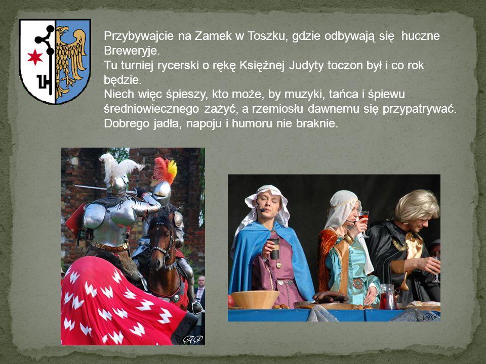 Przybywajcie na Zamek w Toszku, gdzie odbywają się huczne Breweryje. Tu turniej rycerski o rękę Księżnej Judyty toczon był i co rok będzie. Niech więc