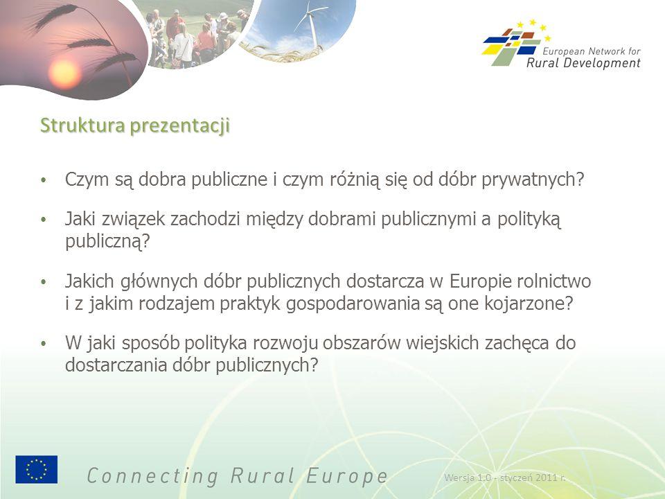 """Aby uzyskać więcej informacji: odwiedź stronę TWG3 w witrynie internetowej ENRD… http://enrd.ec.europa.eu/..i pobierz broszurę """" """"Dobra publiczne i interwencja publiczna w rolnictwie Dobra publiczne i interwencja publiczna w rolnictwie Wersja 1.0 - styczeń 2011 r."""