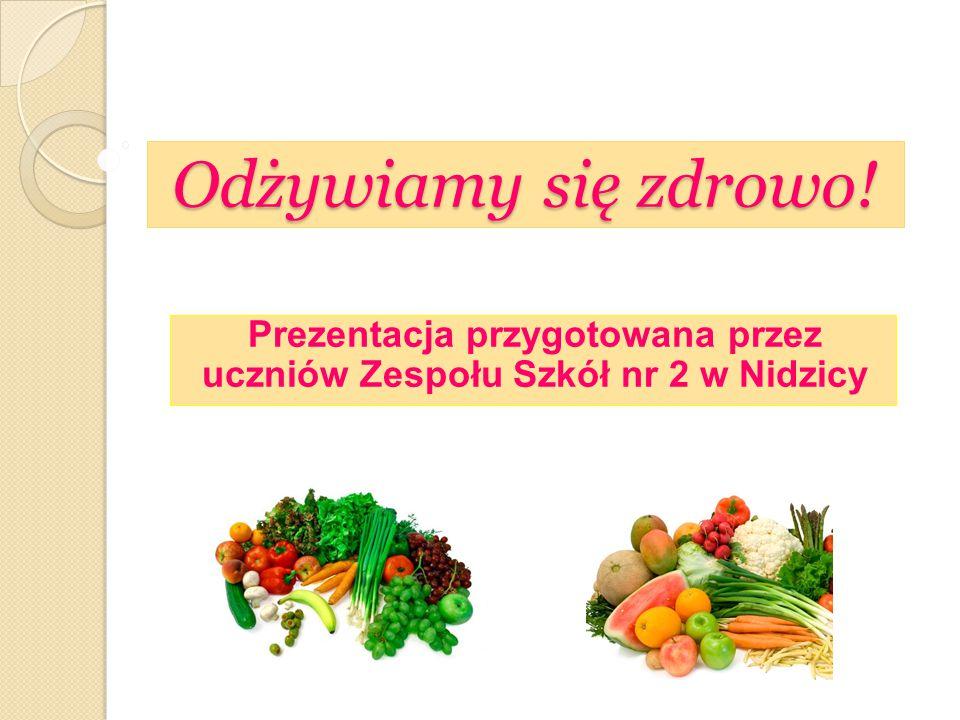 Odżywiamy się zdrowo! Prezentacja przygotowana przez uczniów Zespołu Szkół nr 2 w Nidzicy