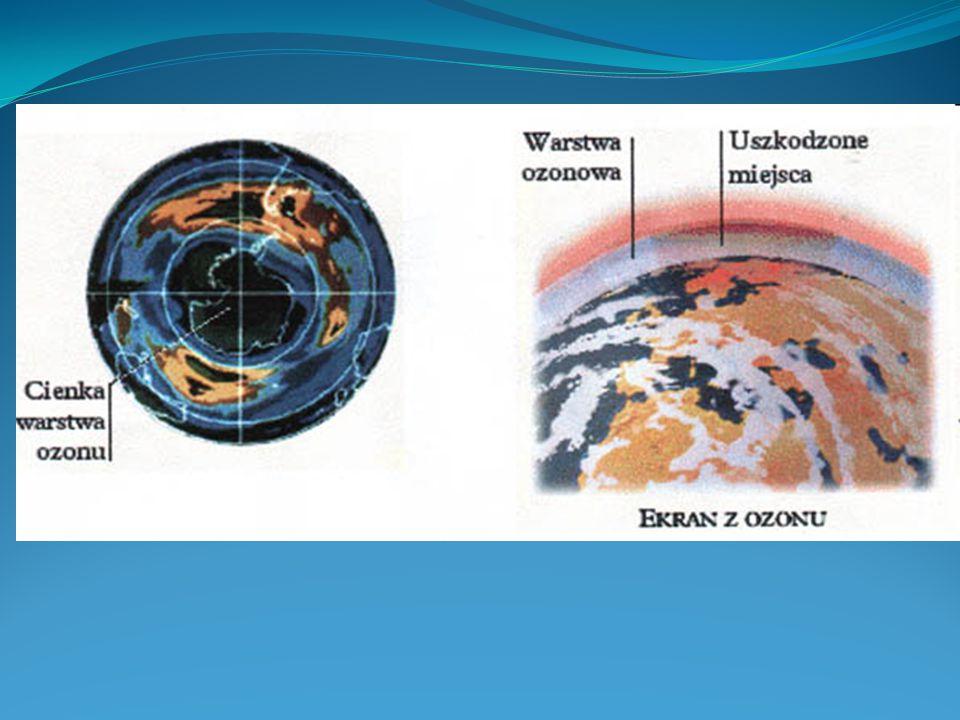 Dziura ozonowa i kosmiczne katastrofy Symulacje astrofizyczne sugerują, że warstwa ozonowa mogłaby zostać zniszczona przez bliski Ziemi rozbłysk promi