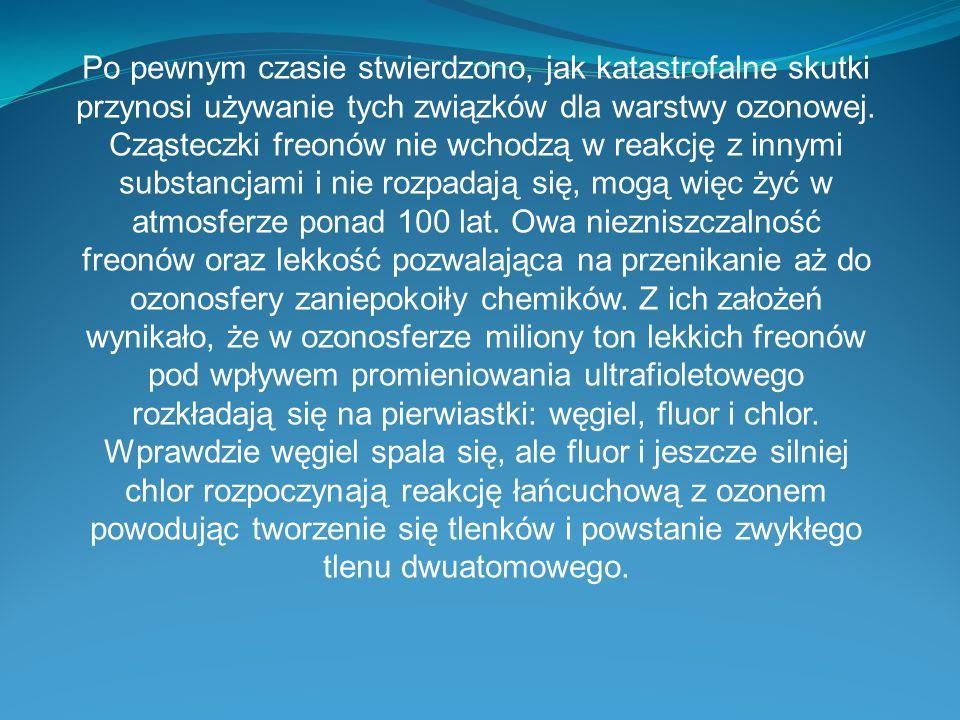 Stronki korzystane do slajdów: http://www.bryk.pl/teksty/liceum/geografia/geograf ia_fizyczna/8119- dziura_ozonowa_charakterystyka_przyczyny_i_sk utki.html http://ekoproblemy.webpark.pl/ozon.htm http://pl.wikipedia.org/wiki/Dziura_ozonowa