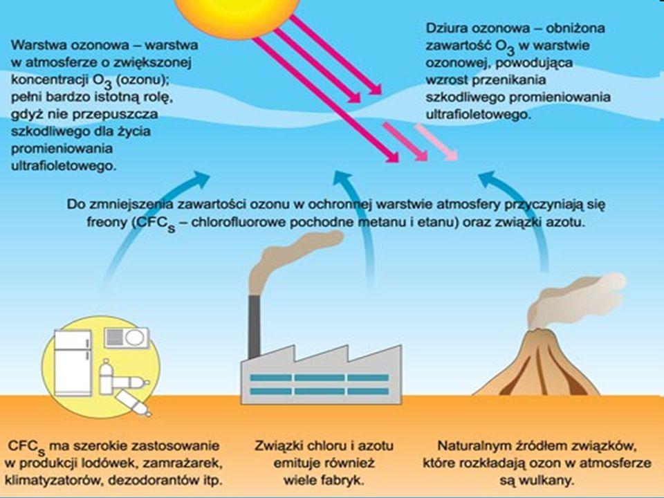 Po pewnym czasie stwierdzono, jak katastrofalne skutki przynosi używanie tych związków dla warstwy ozonowej. Cząsteczki freonów nie wchodzą w reakcję