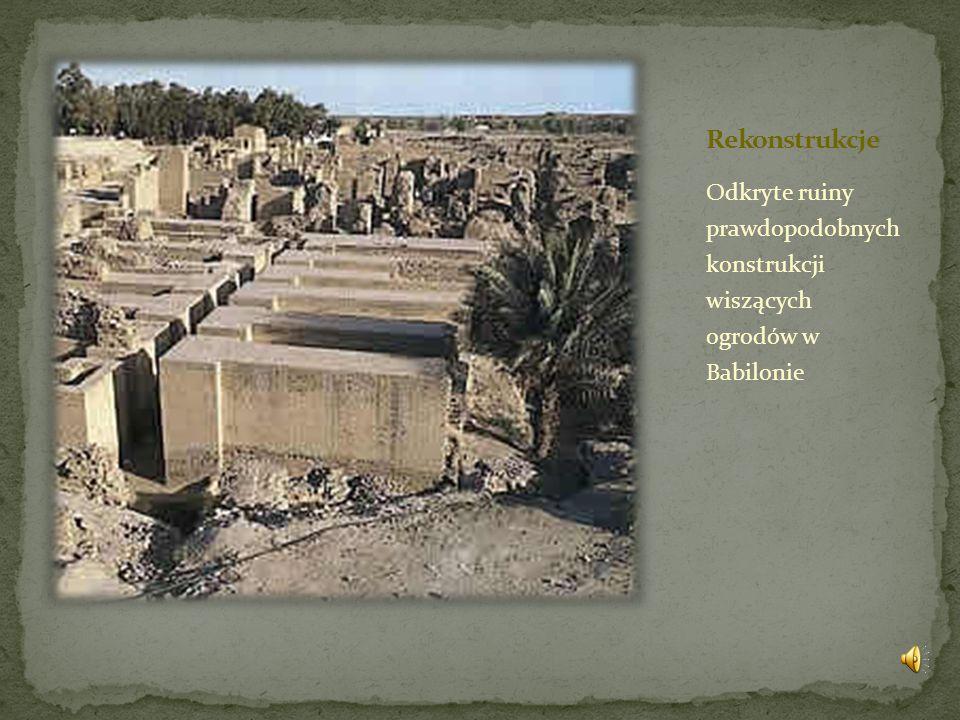 Odkryte ruiny prawdopodobnych konstrukcji wiszących ogrodów w Babilonie