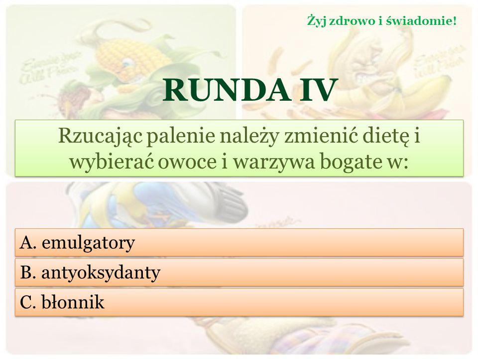 RUNDA III Jak długo należy przebywać na słońcu, aby nasz orgnizm wyprodukował 100 % dziennego zapotrzebowania na witaminę C: Żyj zdrowo i świadomie.