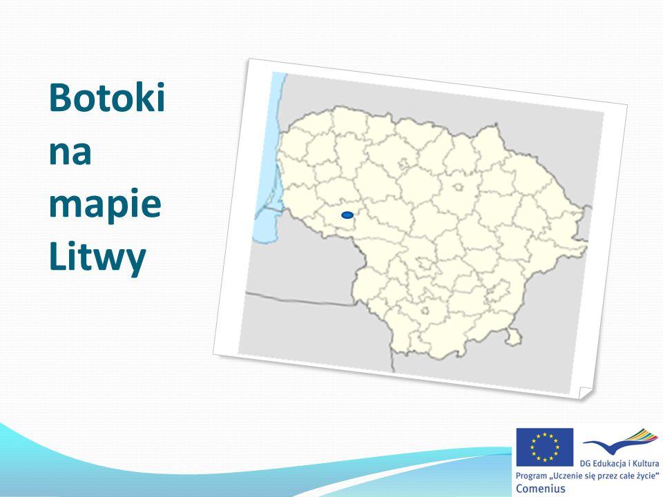 Botoki na mapie Litwy