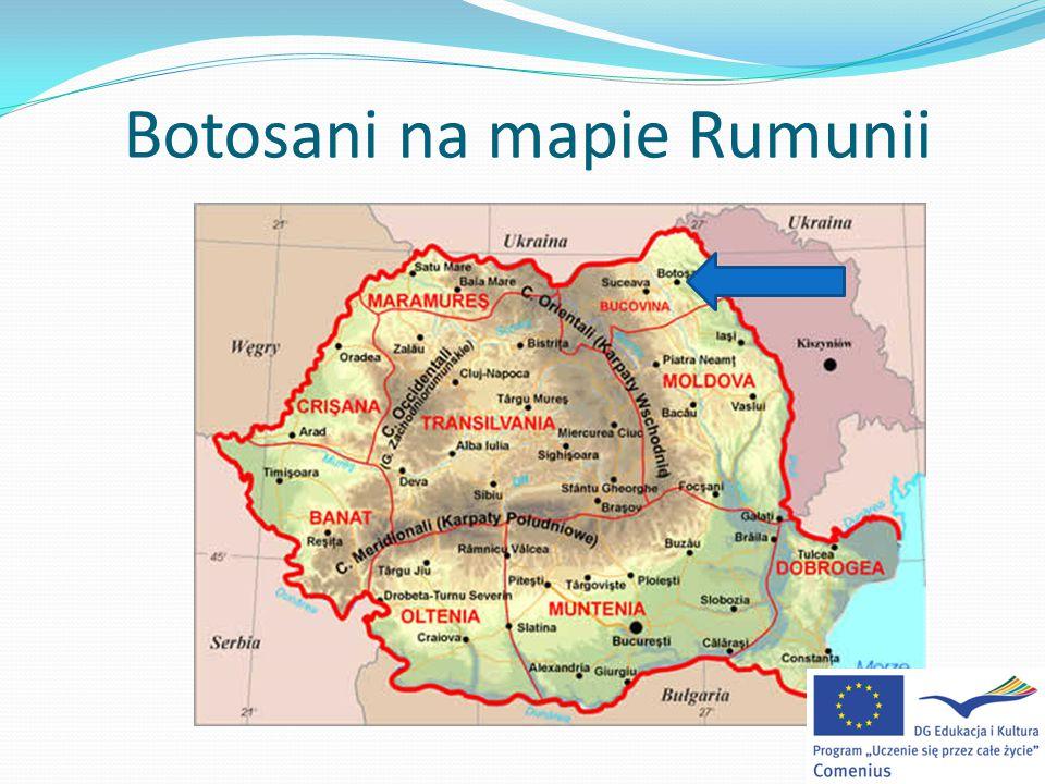 Botosani na mapie Rumunii