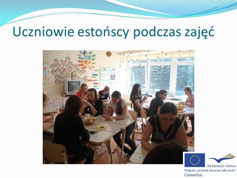 Uczniowie estońscy podczas zajęć