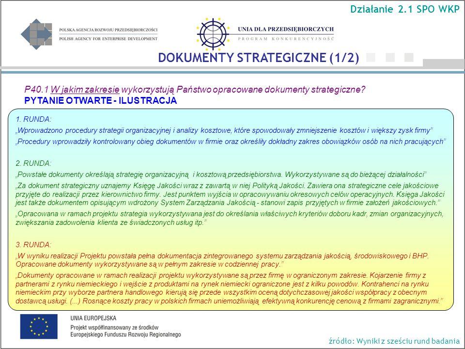 P40.1 W jakim zakresie wykorzystują Państwo opracowane dokumenty strategiczne.