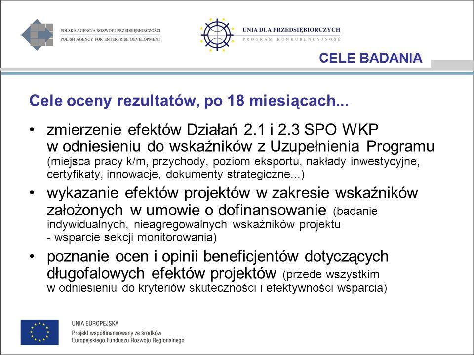 Ocena Rezultatów Działania 2.1 SPO WKP Wzrost konkurencyjności przedsiębiorstw poprzez doradztwo