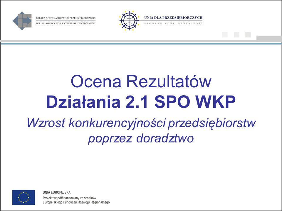 Region, w którym zrealizowano projekt Działanie 2.3 SPO WKP CHARAKTERYSTYKA PROJEKTÓW (1/2) źródło: Wyniki z sześciu rund badania