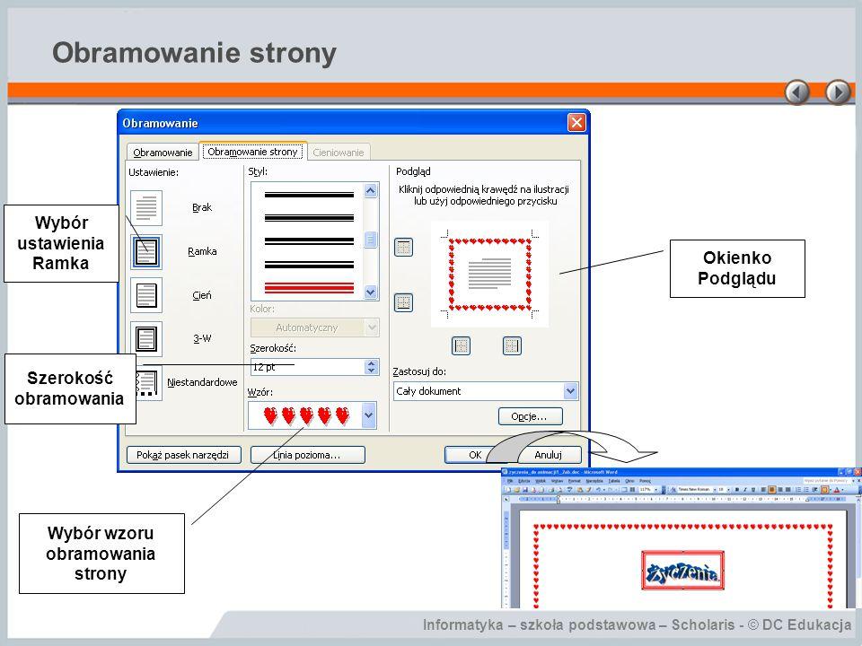 Informatyka – szkoła podstawowa – Scholaris - © DC Edukacja Podsumowanie Narzędzia graficzne dostępne w edytorze.